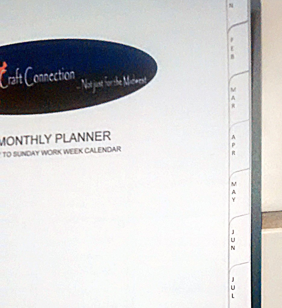 Convenient Side Tabs Make Using the Monthly Planner Easy!