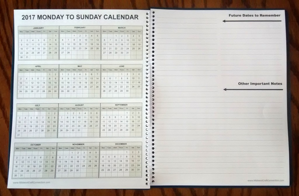You will enjoy the Many Features on this Monday to Sunday Work Week Planning Calendar.